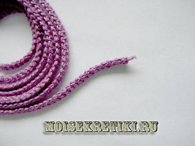 Как связать шнурок крючком