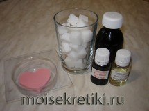 Валентинка из мыла