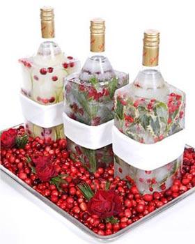 Бутылки во льду