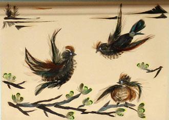 Картины из перьев