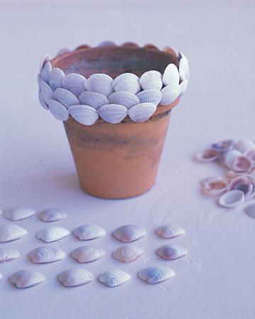 Как украсить цветочные горшки