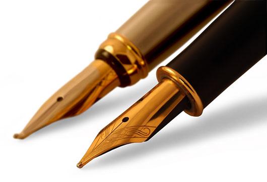 Как писать перьевой ручкой