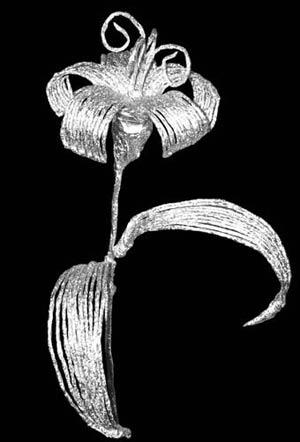 Цветы из фольги
