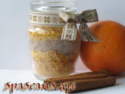 Аромасоль с корицей и апельсином