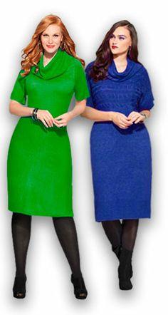 Трикотажные платья для полных