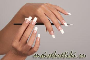 Как отбелить кончики ногтей